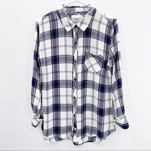 RAILS Classic Button Down Long Sleeve Top